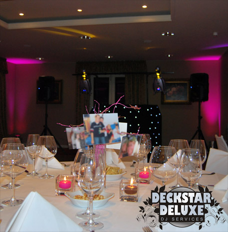 Private party and function disco by Deckstar Deluxe of Cheltenham - birthdays, anniversaries, group and club events